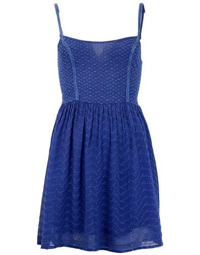 PEPE JEANS RETRO MOD 60s SUMMER DRESS BLUE