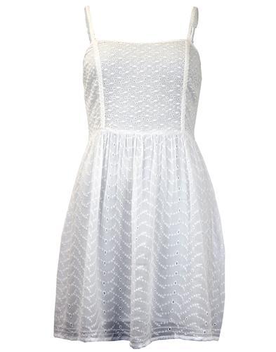 PEPE JEANS RETRO MOD 60s SUMMER DRESS WHITE