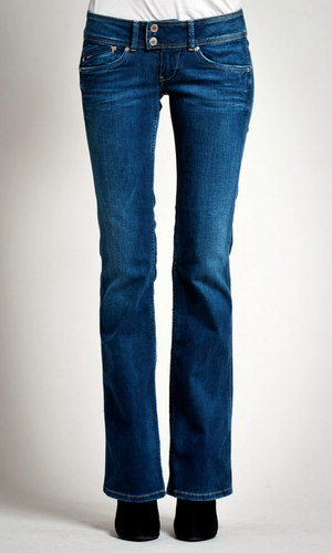 PEPE JEANS WOMENS PIMLICO BOOTCUT FLARES 70s JEANS