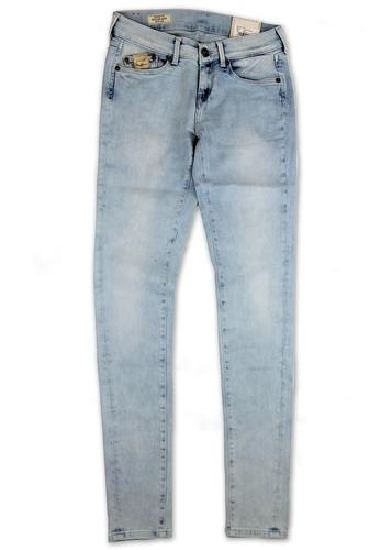 PEPE JEANS WOMENS RETRO SKINNY JEANS TAPERED PIXIE