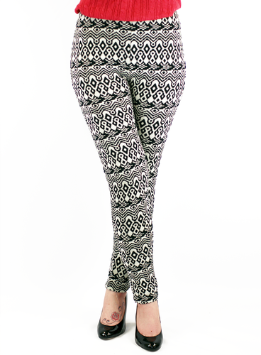 PEPE JEANS WOMENS OTTAWA AZTEC KNIT LEGGINGS