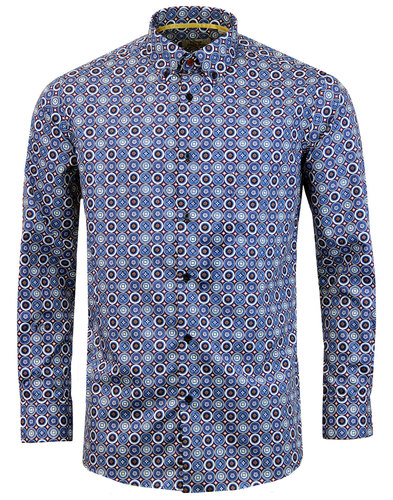 PETER ENGLAND 1960s Mod Psychedelic Shield Shirt