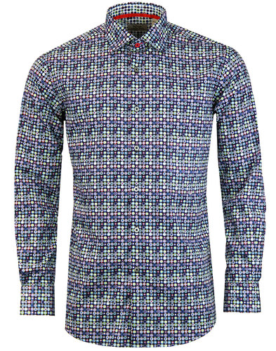 PETER ENGLAND 60s Mod Psychedelic Spot Print Shirt