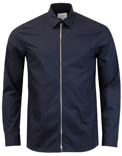 Aragon PETER WERTH Retro Zip Through Cotton Shirt