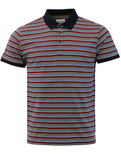 Demo PETER WERTH Bobby Stripe Retro Mod Polo Top