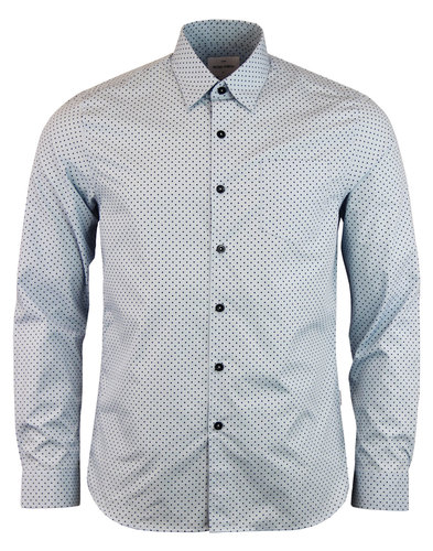 Henshall Shirt mens retro Light Blue peter werth