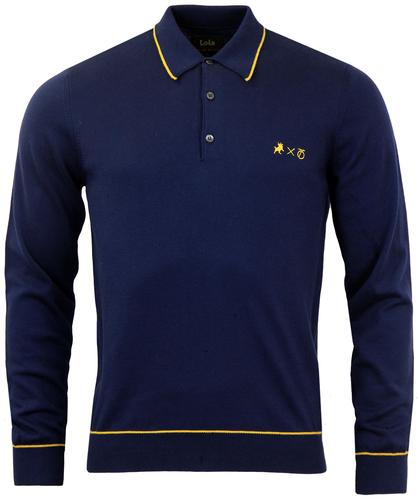 LOIS x PETER WERTH RETRO MOD TIPPED KNIT POLO NAVY