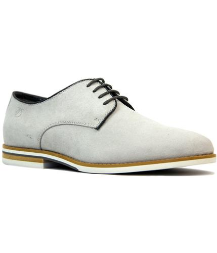 peter werth nesbitt 60s mod suede derby shoes grey
