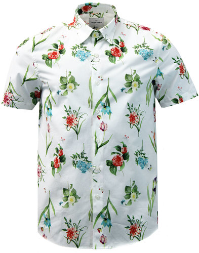 Sylvan PETER WERTH Retro Floral Button Under Shirt