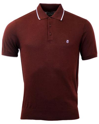 PETER WERTH RETRO MOD 70s KNITTED TIPPED POLO