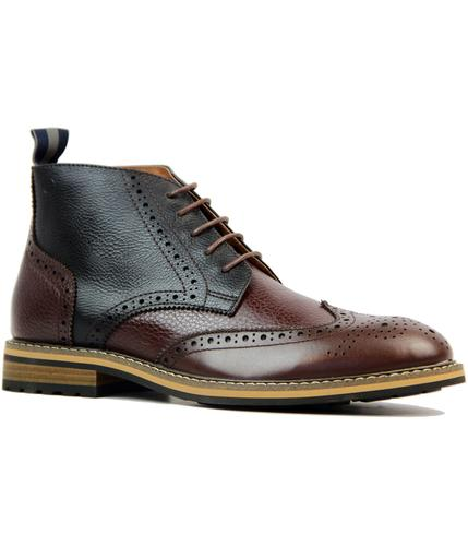 PETER WERTH RETRO MOD BROGUE CHELSEA BOOTS
