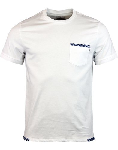Wage PETER WERTH Retro Check Trim Tee - White