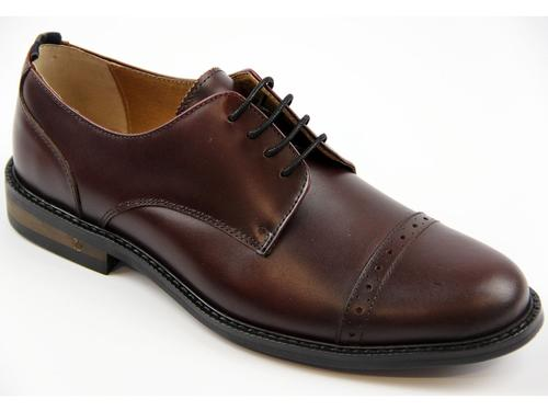Atkinson PETER WERTH Retro Mod Oxblood Derby Shoes