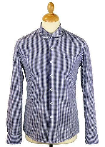 PETER WERTH RETRO MOD 60S GINGHAM SHIRT ELLINGTON