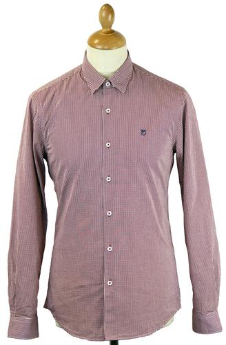 PETER WERTH RETRO MOD 70S GINGHAM SHIRT RED