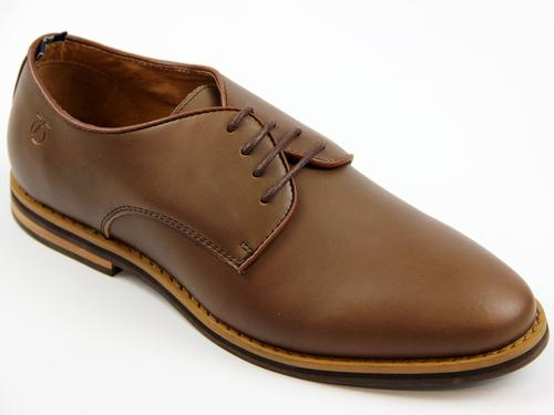 Nesbitt PETER WERTH Mod Leather Derby Shoes BROWN