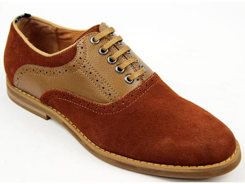 Nesbitt PETER WERTH Mod Saddle Oxford Shoes BROWN