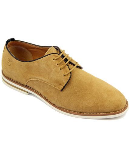 Nesbitt PETER WERTH Retro Trim Suede Derby Shoes