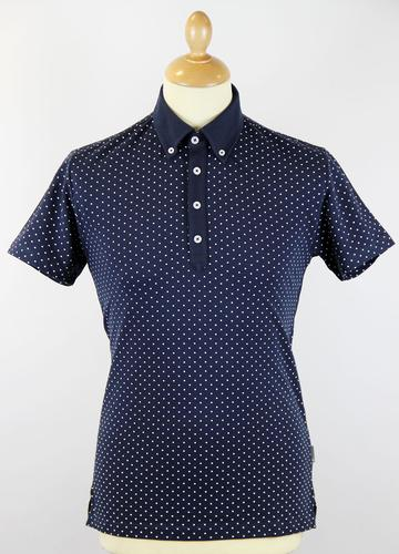 PETER WERTH RETRO MOD 70S POLKA DOT POLO TOP
