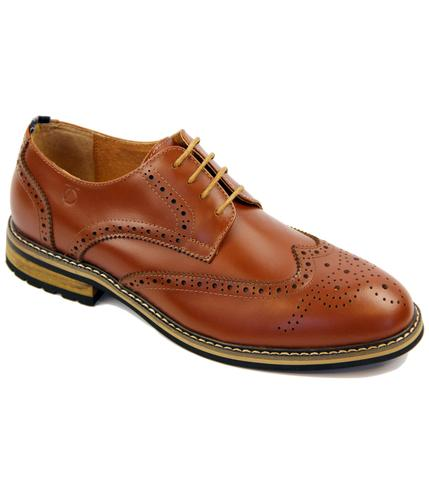 Turnmill PETER WERTH Retro Mod Derby Brogues TAN