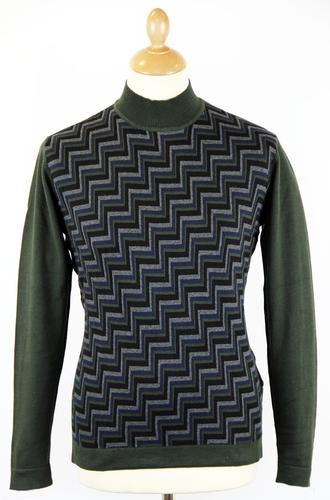 PETER WERTH RETRO 70S ROLL NECK ZIG ZAG JUMPER