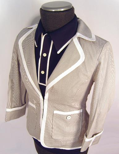 ORIGINAL PENGUIN WOMENS MOD BLAZER JACKET RETRO