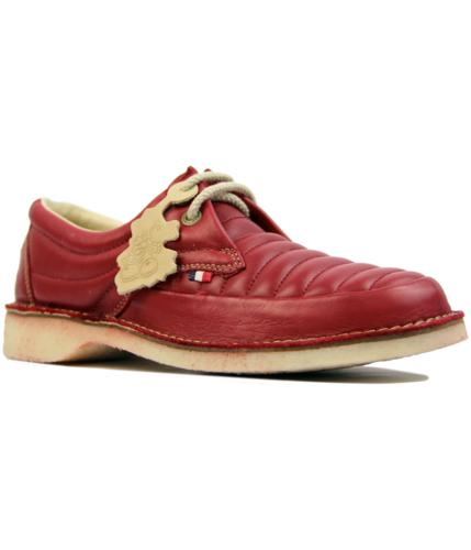 pod heritage jagger retro 1970s quilted shoes red