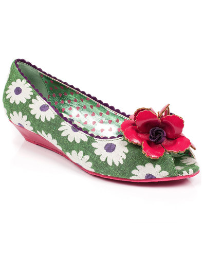 Daisy Delight POETIC LICENCE Retro Floral Wedges
