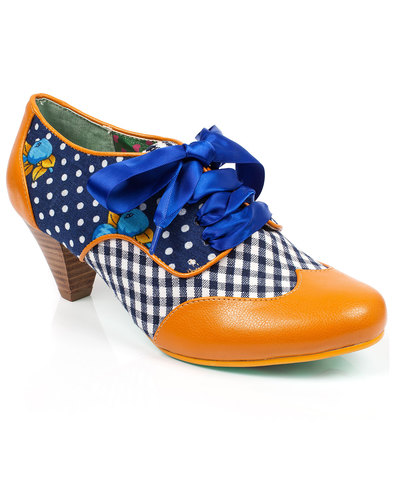 poetic licence end of story dot gingham heels navy
