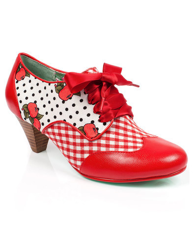 poetic licence end of story dot gingham heels red