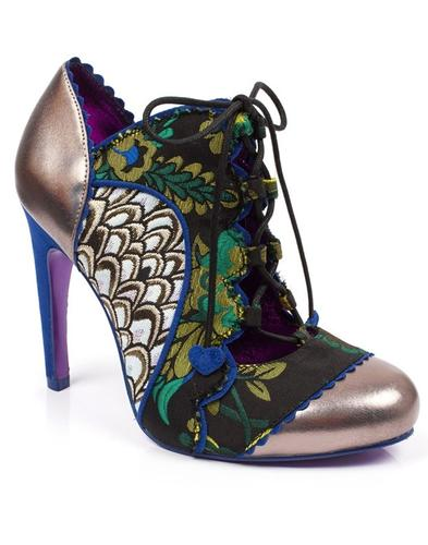 Halston POETIC LICENCE Open Front Floral Heels (G)