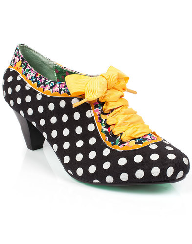 irregular choice 60s mod whiplash polka dot heels