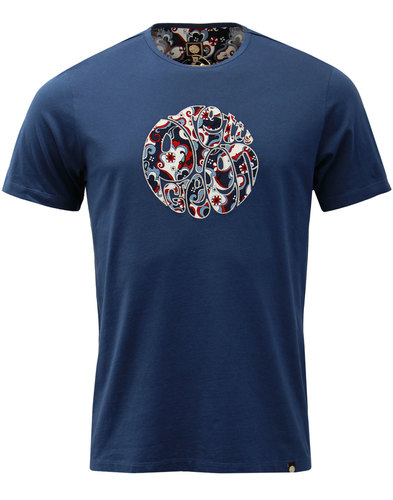 Beaufort PRETTY GREEN Retro Paisley Applique Tee