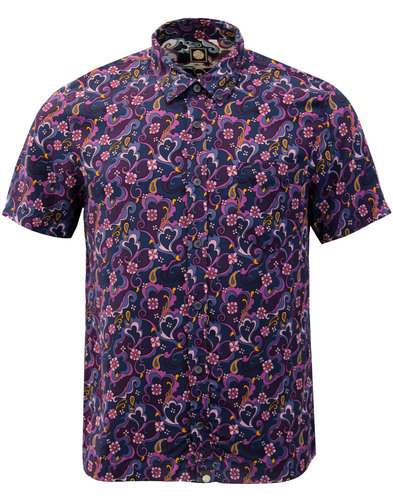 Beaufort PRETTY GREEN Mod Floral Paisley Shirt (P)