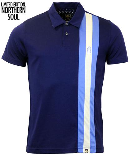 PRETTY GREEN BLACKPOOL NORTHERN SOUL POLO BLUE