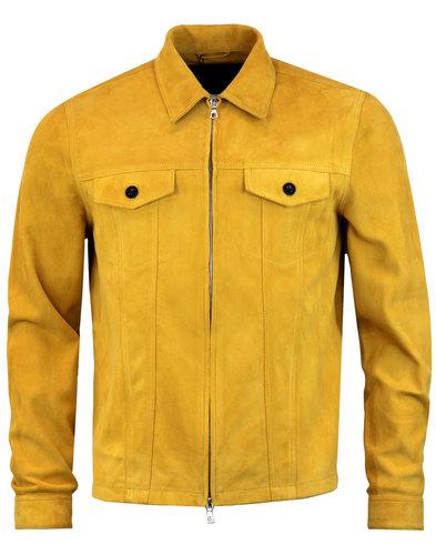 pretty green broadwick mens retro 70s suede jacket