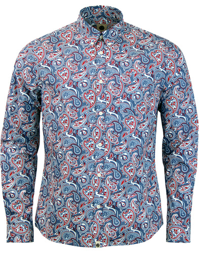 pretty green camley paisley shirt blue