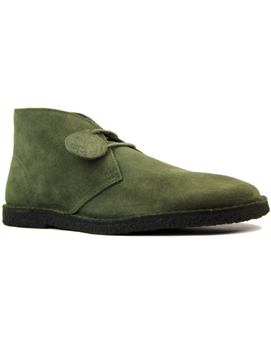 pretty green retro mod suede desert boots khaki