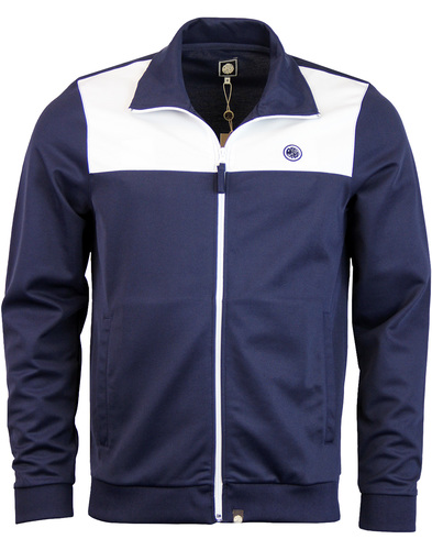 pretty green edzell panel track top navy