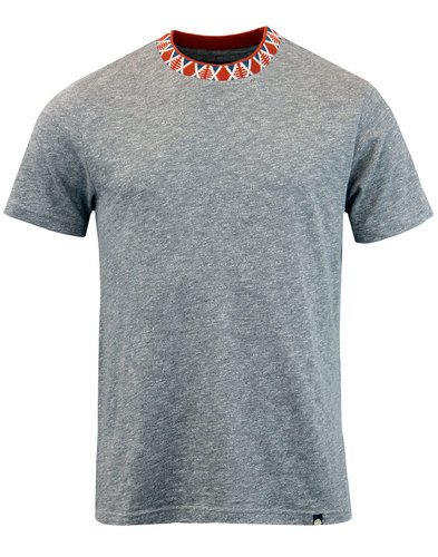 pretty green finsbury retro jacquard collar tee