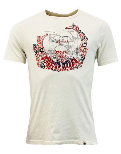 Fouberts PRETTY GREEN 1960s Mod Drum Logo T-shirt
