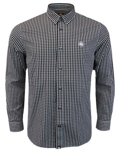 Francis PRETTY GREEN Mod Button Down Gingham Shirt