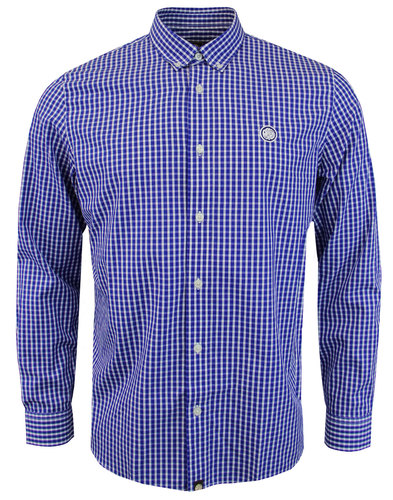Francis PRETTY GREEN Retro Mod Gingham Check Shirt
