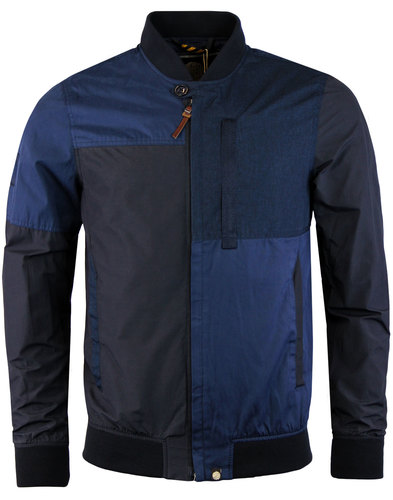 pretty green grainger retro mod bomber jacket navy