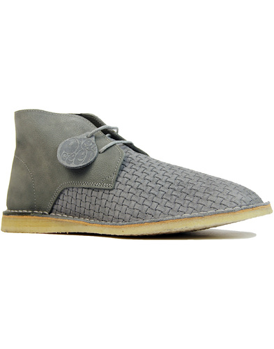 Gresham PRETTY GREEN Mod Weaved Desert Boots GREY