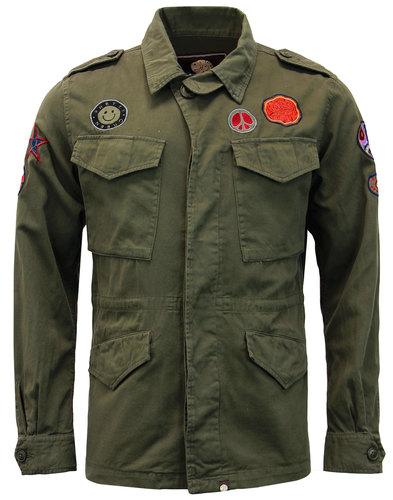 pretty green jayton retro mod lennon army jacket