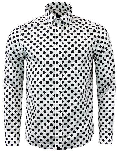 pretty green black label kirkholt polka dot shirt