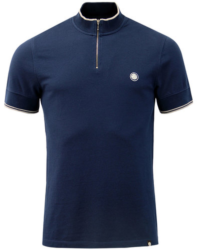 Langshaw PRETTY GREEN Mod Zip Neck Cycling Top (N)