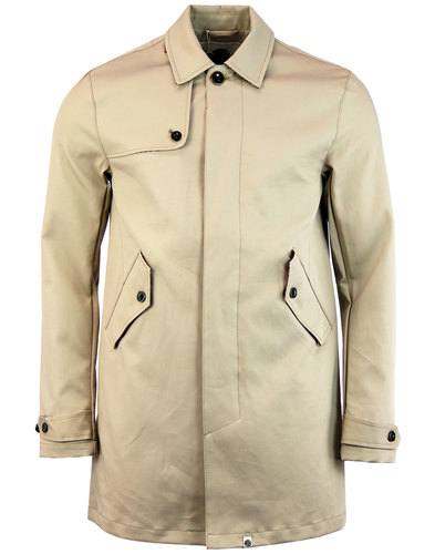 Layton PRETTY GREEN Retro 60s Mod Trench Coat