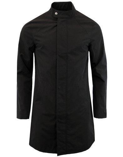pretty green retro mod harrington mac jacket black